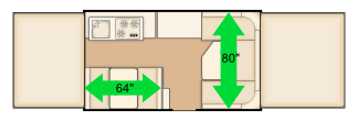 "64"" and 80"" dinette floorplan"
