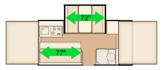 "77"" sofa and 72"" dinette floorplan"