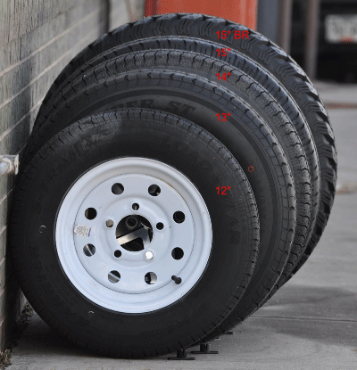 Flagstaff pop-up trailer tire size comparison