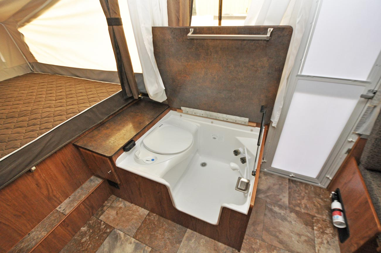 Shower Toilet Combo Flagstaff 228 With Shower Camping Trailer Roberts Sales Denver