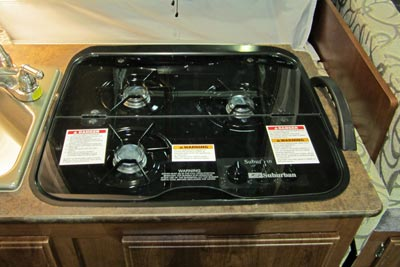 2015 Flagstaff 625D glass stove top