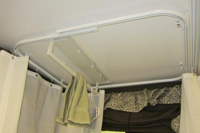 2015 Flagstaff 625D shower curtain track system