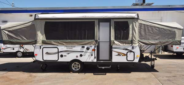 2014 Flagstaff 627D green tent example