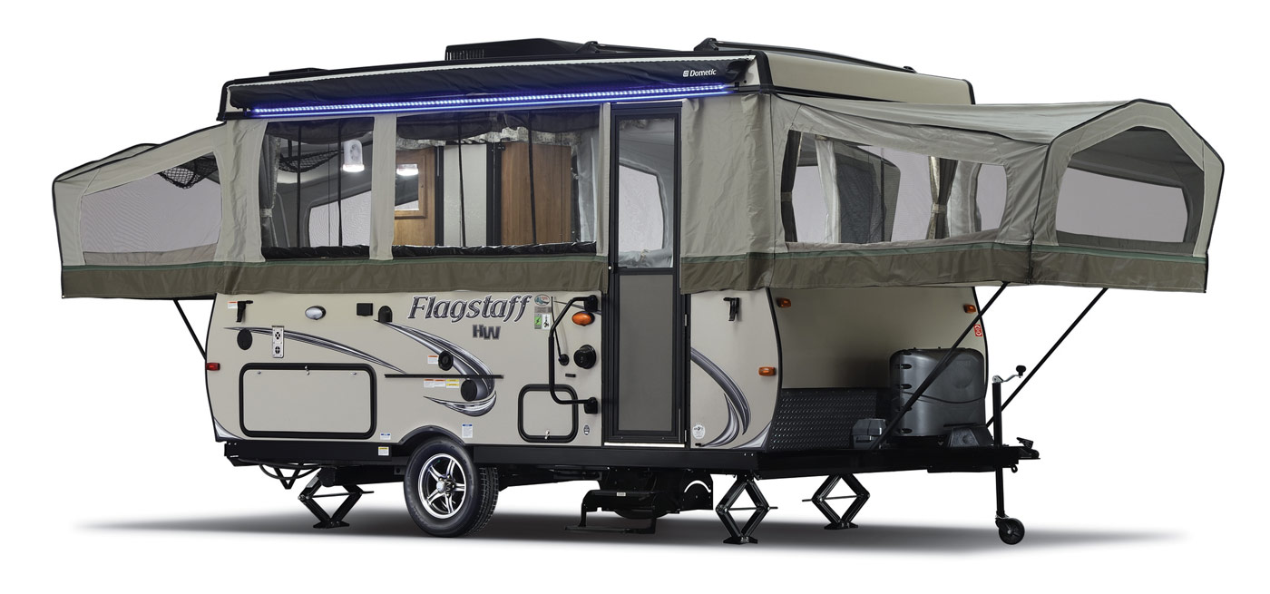The High Wall Series Offers Travel Trailer Amenities With Light Weight And Easy Towing Of A Pop Up Camper