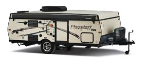 2016 Flagstaff HW27SC exterior when down