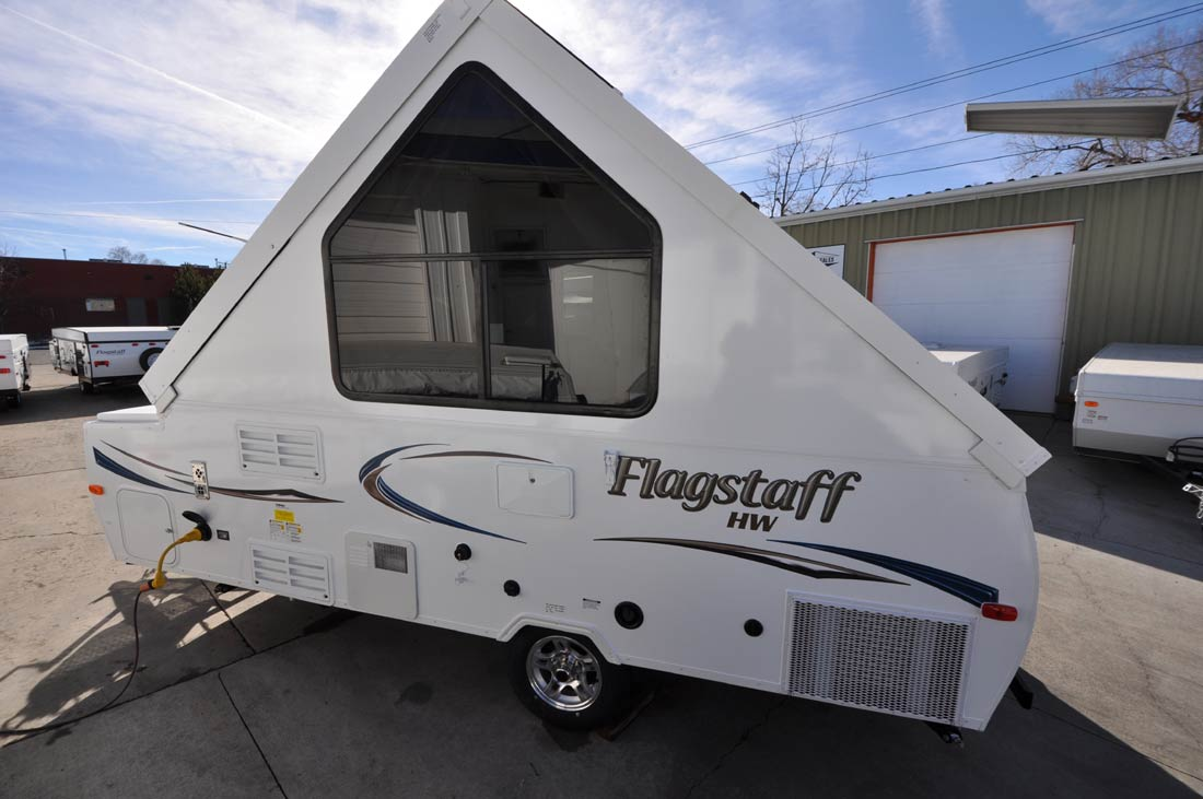 flagstaff camper trailer camping side colorado