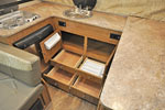 2017 Flagstaff T21FKHW galley cabinet storage