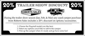Trailer Show Season Discount Used Flyer