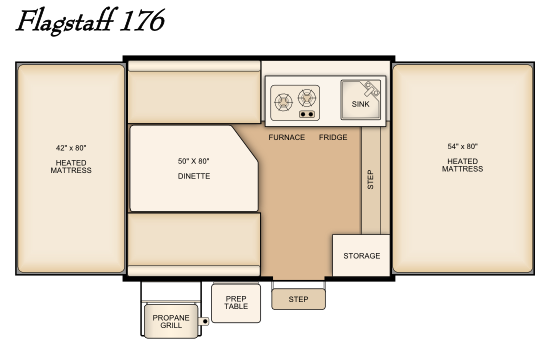 New 2014 Flagstaff 176 floor plan