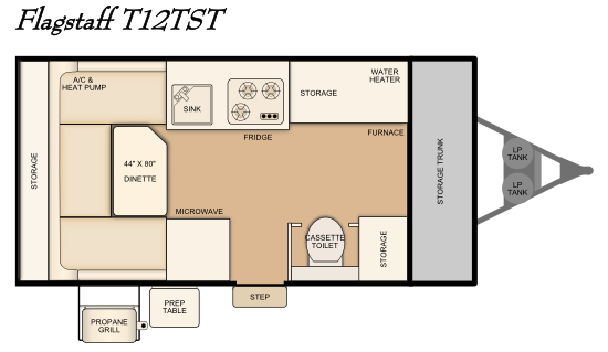 Flagstaff T12TST floorplan