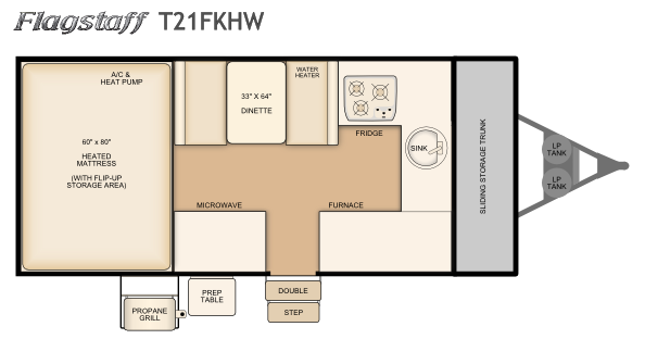2017 Flagstaff T21FKHW layout