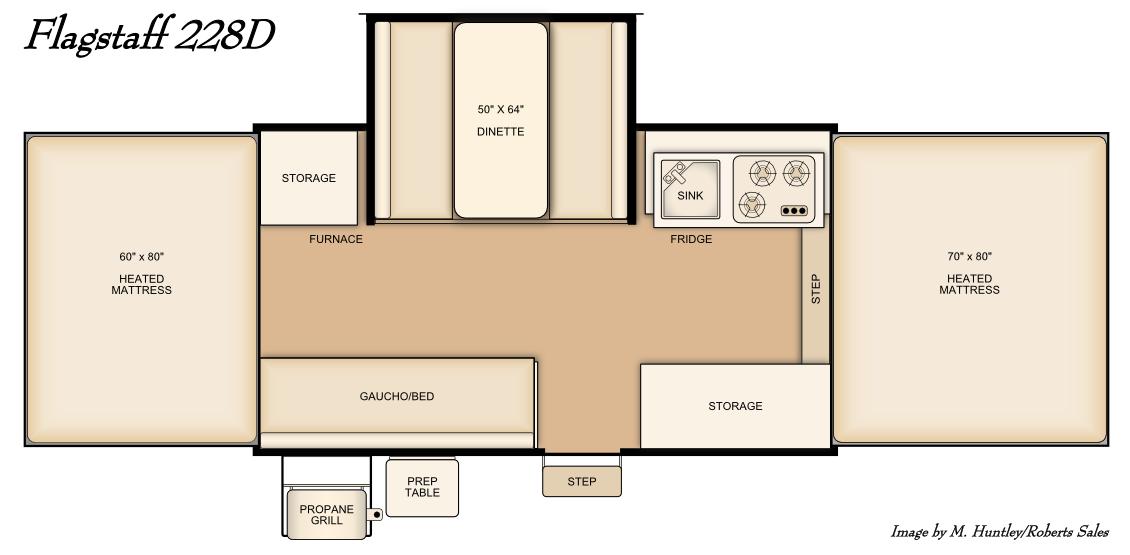 Slide Out Dilema PopUpPortal - Flagstaff Rv Floor Plans