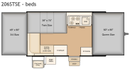 Flagstaff 206STSE bed layout