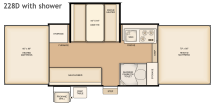Flagstaff 228D with shower floorplan thumbnail