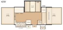 Flagstaff 425D floorplan