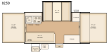 Flagstaff 825D floorplan
