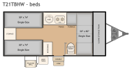 2016 Flagstaff T21TBHW bed layout 1