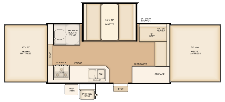 Flagstaff HW27SC floorplan
