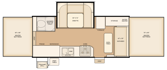 Flagstaff HW29SC floorplan