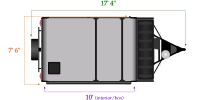 length and width dimensions for Flagstaff 206STSE