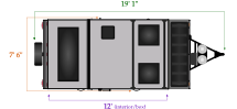 length and width dimensions for Flagstaff T12RBSSE