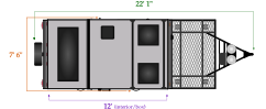 length and width dimensions for Flagstaff T12RBTHSE