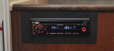 Kenwood KDC-152 in a Flagstaff camper
