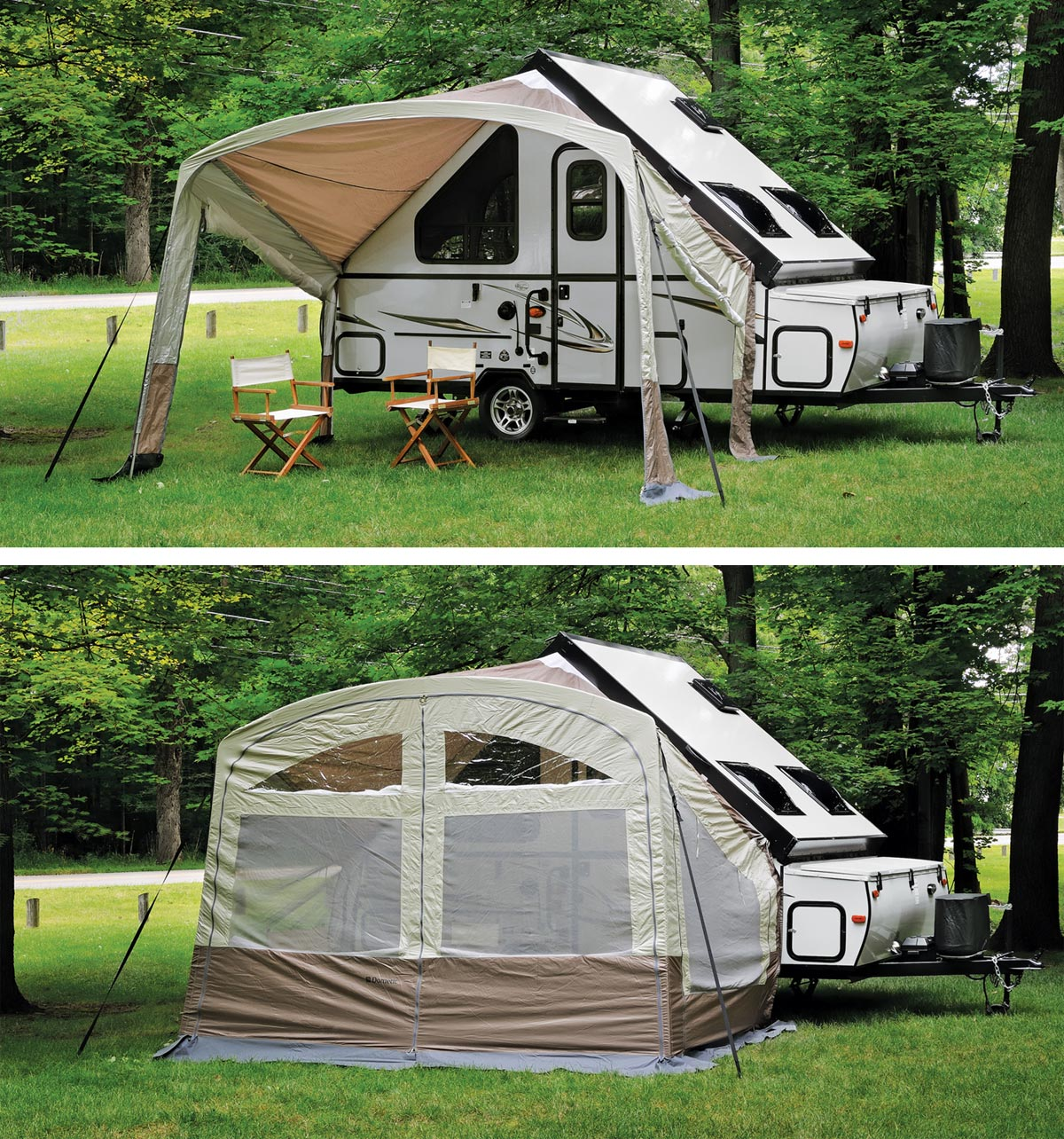 T Series A Frame Awning Screen Room Combo