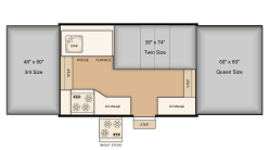 Rental 206LT bed layout