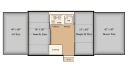 208 bed layout